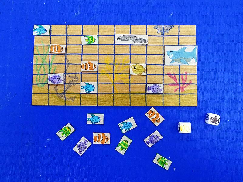 Atelier création de jeu : SOS Requins à la ludothèque