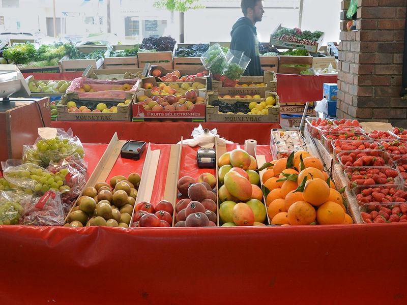 Marchés de fruits et de légumes à Gif-sur-Yvette.